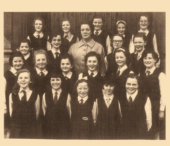 Girls school Prize winning choir with Mrs Quigley 1963