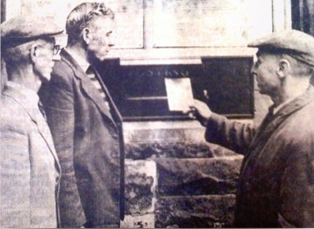 John Mc Brearty,Jimmy Deery and John Doherty posting a letter to the powers that be at Stormont in April 1964